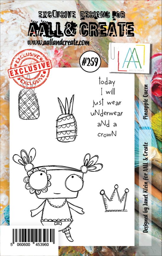 AALL & Create PINEAPPLE QUEEN Clear Stamp Set aal00259 zoom image