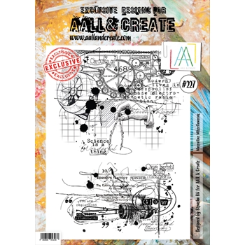 AALL & Create MASCULINE MISCELLANEOUS 227 A4 Clear Stamps aal00227