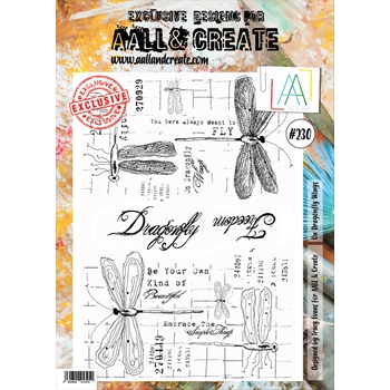 AALL & Create ON DRAGONFLY WINGS 230 A4 Clear Stamps aal00230