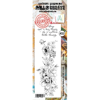 AALL & Create FRIENDSHIP BORDER 232 Clear Stamps aal00232