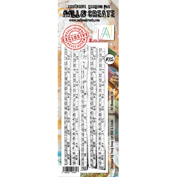 AALL & Create ALL MEASURED UP BORDER 235 Clear Stamp aal00235