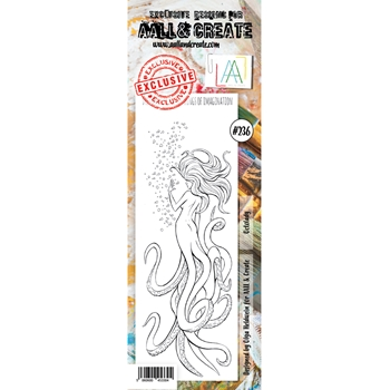 AALL & Create OCTOLADY BORDER 236 Clear Stamps aal00236