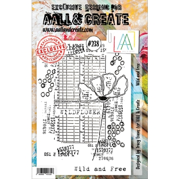 AALL & Create WILD AND FREE 238 A5 Clear Stamps aal00238