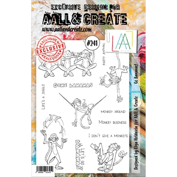 AALL & Create GO BANANAS! 241 A5 Clear Stamps aal00241