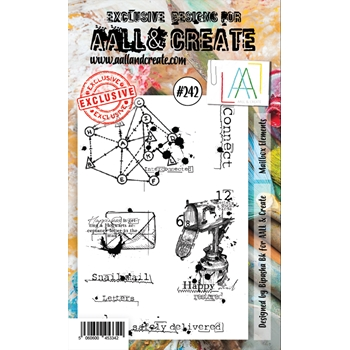 AALL & Create MAILBOX ELEMENTS 242 A6 Clear Stamps aal00242
