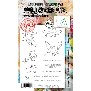 AALL & Create BEARY FAIRY 248 A6 Clear Stamps aal00248