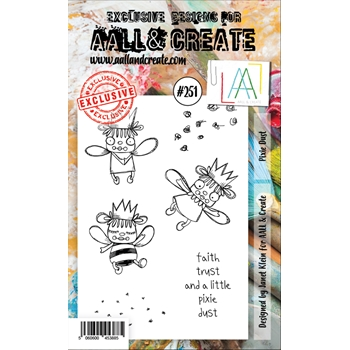 AALL & Create PIXIE DUST 251 A6 Clear Stamps aal00251