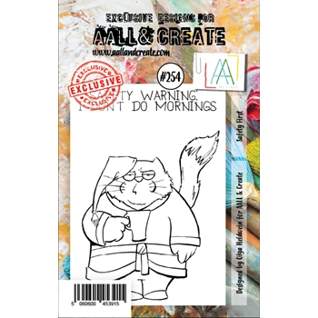 AALL & Create SAFETY FIRST 254 A7 Clear Stamps aal00254