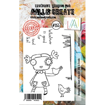 AALL & Create BIRD LOVER 255 A7 Clear Stamps aal00255