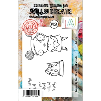AALL & Create CAT LOVE 256 A7 Clear Stamps aal00256