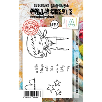 AALL & Create LIL' MAGIC 257 A7 Clear Stamps aal00257
