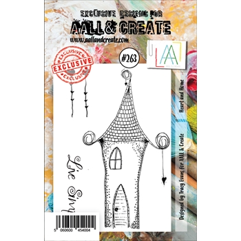 AALL & Create HEART AND HOME 263 A7 Clear Stamps aal00263