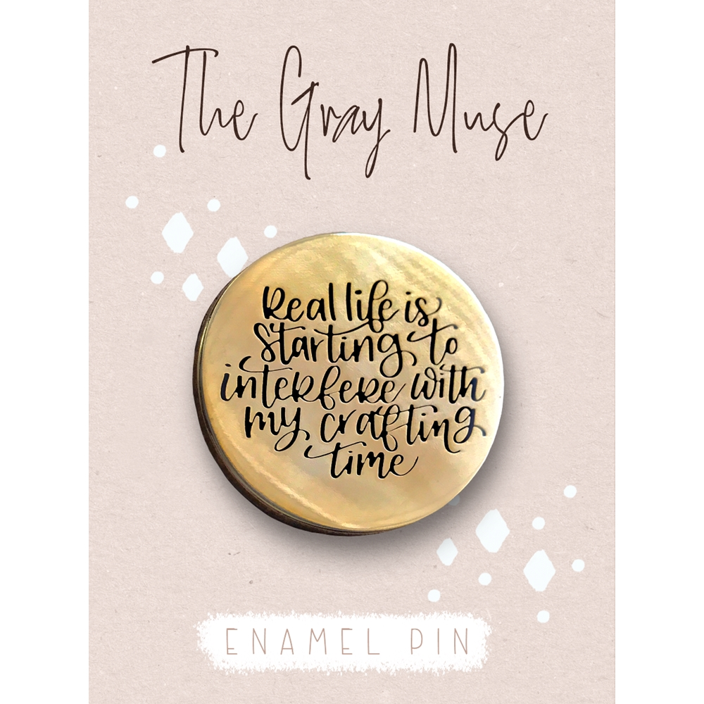 The Gray Muse REAL LIFE GOLD Enamel Pin tgm-s19-p68 zoom image