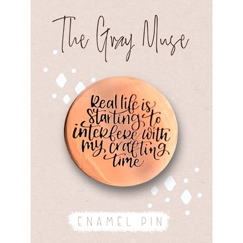 The Gray Muse REAL LIFE ROSE GOLD Enamel Pin tgm-s19-p69 Preview Image