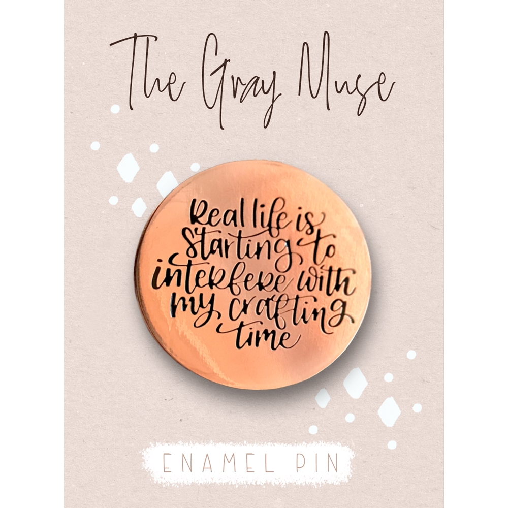 The Gray Muse REAL LIFE ROSE GOLD Enamel Pin tgm-s19-p69 zoom image