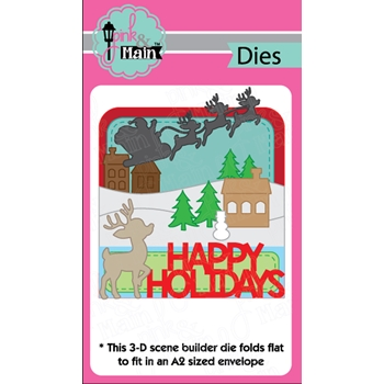 Pink and Main HOLIDAY SCENE Dies PNM250