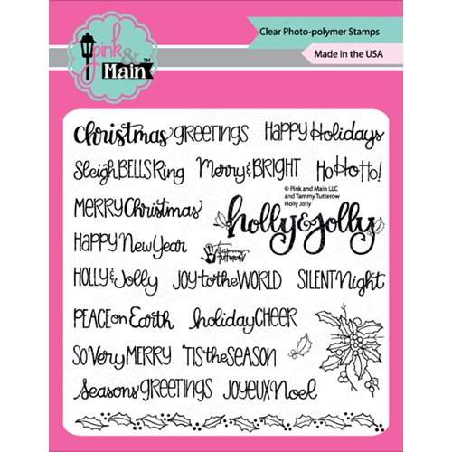 Pink and Main HOLLY JOLLY Clear Stamps PM0367 Preview Image