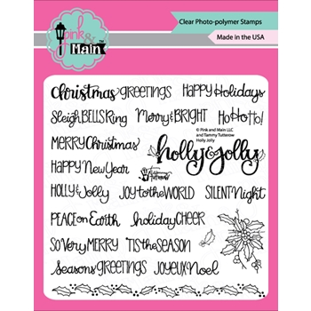 Pink and Main HOLLY JOLLY Clear Stamps PM0367