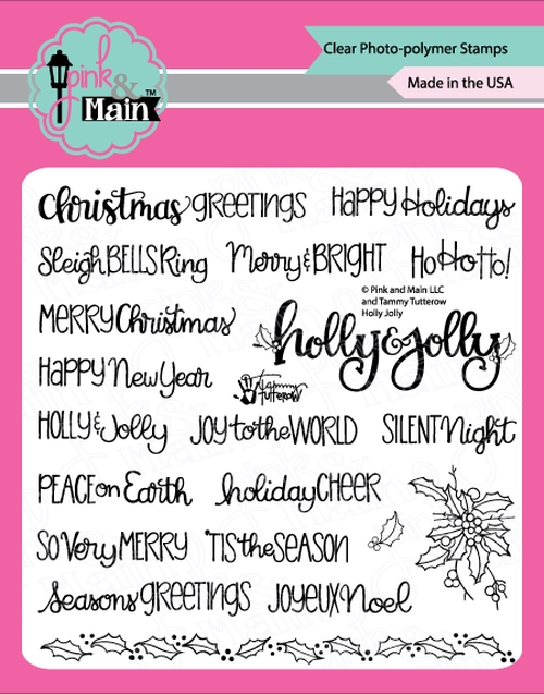 Pink and Main HOLLY JOLLY Clear Stamps PM0367 zoom image