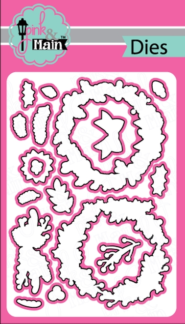 Pink and Main HOLIDAY WREATHS Dies PNM242 zoom image