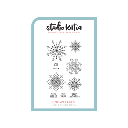 Studio Katia SNOWFLAKES Clear Stamps skcs097 Preview Image