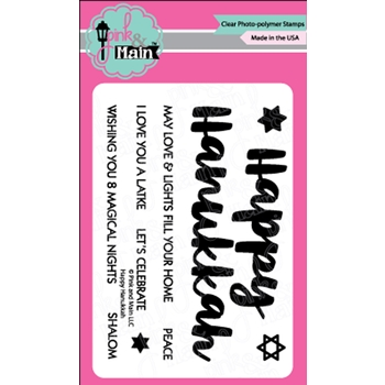 Pink and Main HAPPY HANUKKAH Clear Stamps PM0372