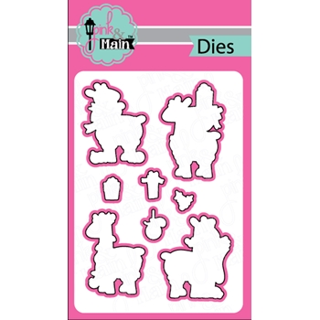 Pink and Main FA LA LLAMAS Dies PNM241