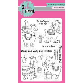 Pink and Main FA LA LLAMA Clear Stamps PM0368