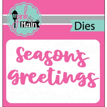 Pink and Main BOLD GREETINGS Dies PNM246