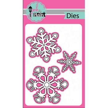 Pink and Main BOLD SNOWFLAKES Dies PNM249