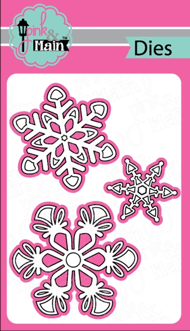 Pink and Main BOLD SNOWFLAKES Dies PNM249 zoom image