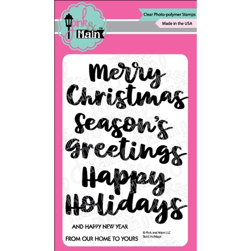 Pink and Main BOLD HOLIDAYS Clear Stamps PM0371 Preview Image