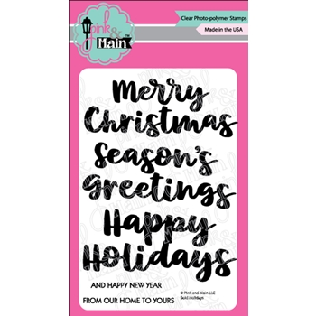 Pink and Main BOLD HOLIDAYS Clear Stamps PM0371