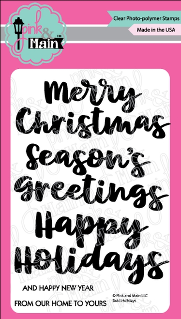Pink and Main BOLD HOLIDAYS Clear Stamps PM0371 zoom image