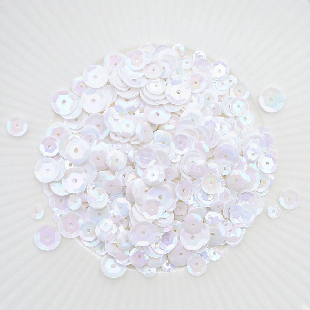Little Things From Lucy's Cards VANILLA CREAM Sequin Mix LBSM38 zoom image
