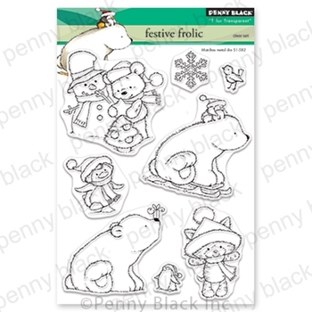Penny Black Clear Stamps FESTIVE FROLIC 30 630*