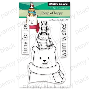 Penny Black Clear Stamps HEAP OF HAPPY 30-640*
