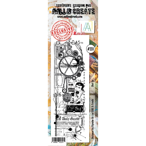 AALL & Create DIAL UP BORDER 231 Clear Stamp aal00231 Preview Image