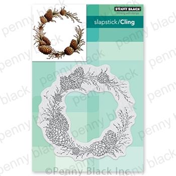 Penny Black Cling Stamp CONIFER WREATH 40-713