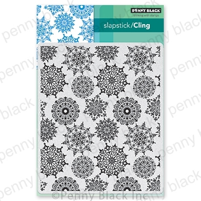 Penny Black Cling Stamp SNOWFLAKE PATTERN 40-706 zoom image
