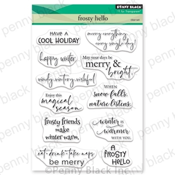 Penny Black Clear Stamps FROSTY HELLO 30-649