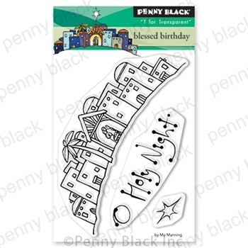 Penny Black Clear Stamps BLESSED BIRTHDAY 30-642