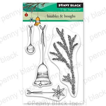 Penny Black Clear Stamps BAUBLES AND BOUGHS 30-641