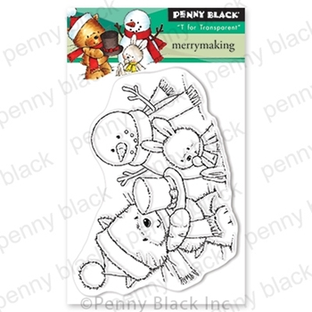 Penny Black Clear Stamps MERRYMAKING 30-638