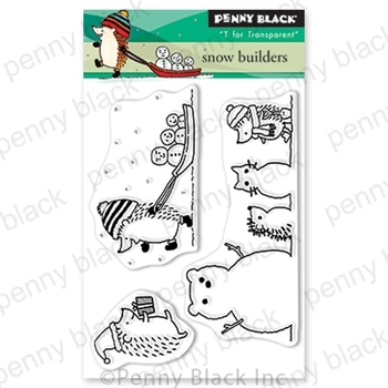 Penny Black Clear Stamps SNOW BUILDERS 30-633