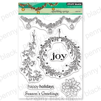 Penny Black Clear Stamps SPARKLING SPRIGS 30-632 zoom image