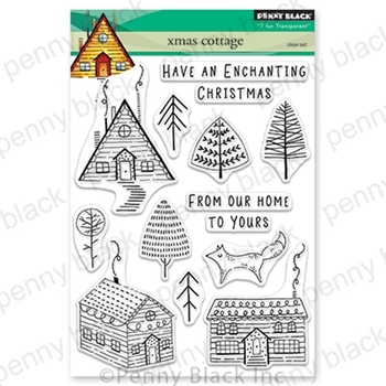 Penny Black Clear Stamps XMAS COTTAGE 30-629