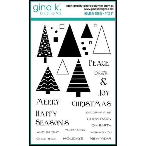 Gina K Designs HOLIDAY TREES Clear Stamps 0534 Preview Image