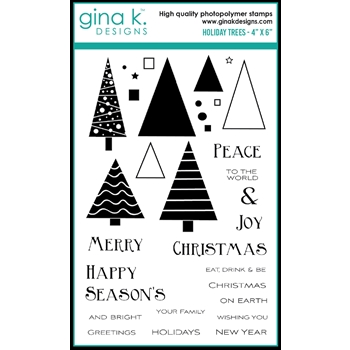 Gina K Designs HOLIDAY TREES Clear Stamps 0534