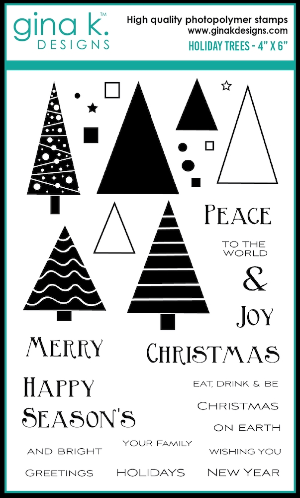Gina K Designs HOLIDAY TREES Clear Stamps 0534 zoom image